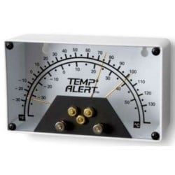 """Mechanical Temperature Monitor, Key Slot Mount, 12 Volt DC at 50 Milliampere Contact Output, +/- 3 Deg F Accuracy, 6.25"""" Length x 2"""" Width x 3.75"""" Height"""