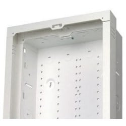 "Enclosure Extender Bracket, 15.62"" Width x 2"" Depth x 43.25"" Height, 18 Gauge Sheet Metal, Powder Coated Sturdy White, For 42"" Structured Media Enclosure"