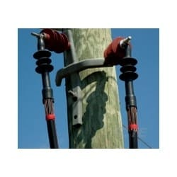 """Power Cable Termination, Indoor/Outdoor, 1-Core, 500 to 750 MCM, 15 KV, 11.5"""" Length, Plastic Insulation"""