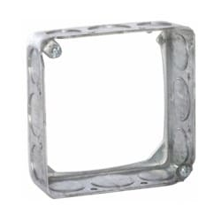 4 In. Square Extension Rings, 1-1/2 In. Deep - Drawn with Conduit KO's 1/2-3/4 KO
