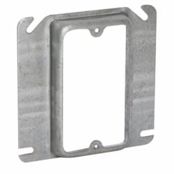 4 In. Square Single Device Covers, Raised 5/8 In.