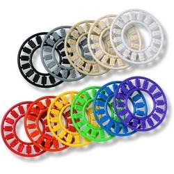 Icon Wheel, Contains: (4) Blank, (2) Cat 5e, (2) Cat 6, (1) V1, (1) V2, (1) V3, (1) V4, (1) D1, (1) D2, (1) D3, (1) D4, Almond