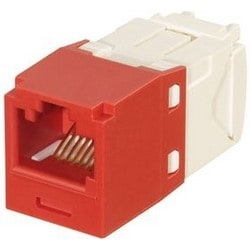 Category 6, RJ45, 8-position, 8-wire Universal Shuttered Module.