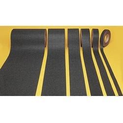 "Non-Skid Floor Tape, 1"" x 60-ft, PVC/Aluminum Oxide, Yellow"