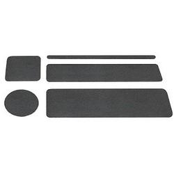 """Non-Skid Floor Tape, 3"""" x 24"""", PVC/Aluminum Oxide, Black"""