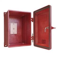 Weatherproof Telephone Enclosure, Red. 255 Series.