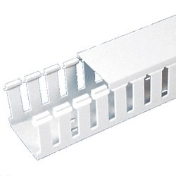 "Slotted Duct, PVC,1""X4""X6'L, White"