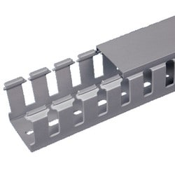 Slotted Duct, Halogen Free, 50mm X 50mm X 2M, Light Gray, Base and Covers Sold Separately