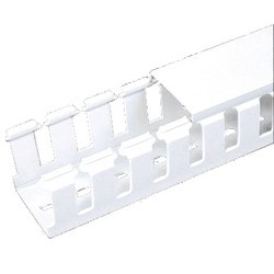 Slotted Duct, Halogen Free, 50mm X 50mm X 2M, White, Base and Covers Sold Separately