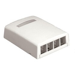 NK 4-port Surface Mount Box, Arctic White