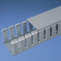 Slotted Duct, PVC, 50.8mm X 76.2mm X 6', Light Gray