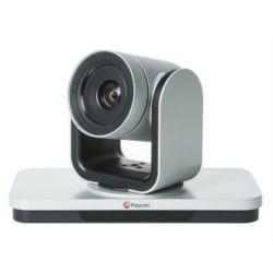 EagleEye IV-12x Camera with Polycom 2012 logo, 12x zoom, silver and black, MPTZ-10. Compatible with RealPresence Group Series software 4.1.3 and later
