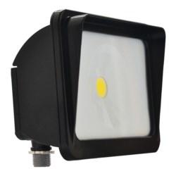 LED Compact Floodlight, 120-277V, 3000L, 4000K, 70 CRI, Dark Bronze
