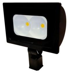 LED Floodlight, 120-277V, Narrow, 13500L, 4000K, 70 CRI, Large, Dark Bronze