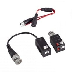 1080p High Performance Active / Passive Video Balun For Use Over CAT5 Or Higher, 1148ft. Works With HD-TVI, HD-CVI, AHD, And NTSC/PAL Cameras. Transmits Video Only; Does Not Transmit POE. PAIR (one Receiver, One Transmitter)