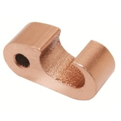 "Copper Compression Fig. 6 Connector, 1/0 AWG (Str)-250 kcmil or 1/2""-5/8"" Rod (Run) / 3/0 AWG(Str) -250 kcmil (Tap)"