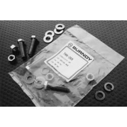 "Silicon Bronze Hardware Kit, 1/4""-20 Stud: 2 Nos with Flat & Split Washers & Hex Nuts"