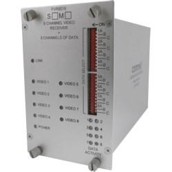 8-Channel Digitally Encoded Video Transmitter + 8 Bi-directional Data Channels, mm, 1 fiber