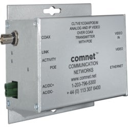 Analog and IP Video Over COAX Transmitter small size with PoE