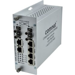 Unmanaged Switch, 8 Port, 100Mbps, 6 Copper, 2 FX, Multimode, PoE- Power over Ethernet