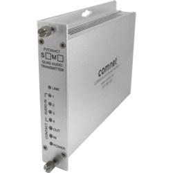 4 Channel Audio Receiver + Bi-directional Contact Closure, SM, 1 Fiber