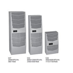 G52 8000 BTU 460V 50/60HZ 3ph, Bulletin MCLG (SPECTRACOOL Air Conditioner), Size/Dims: 52.69x17.12x11.66, Material/Finish: