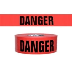 "BARRICADE TAPE DANGER, 3""x1000', 3mil"