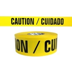 "BARRICADE TAPE CAUTION CUIDADO, 3""x1000', 3mil"