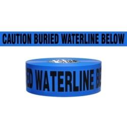"CAUTION BURIED WATERLINE BELOW, 3""x1000', 4mil"