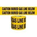 "CAUTION BURIED GAS LINE BELOW, 6""x1000', 4mil"