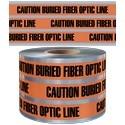 "BURIED DETECTBLE TAPE CAUTION BURIED FIBER OPTIC LINE, 12""x1000', 5mil"