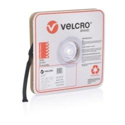 VELCRO Brand ONE-WRAP STRAPS, 19mm x 200mm, Black, 100 Straps Roll
