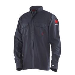 DRIFIRE FR 4.4 Work Shirt - MDT - Navy Blue, FR Blend Fabric, Arc Rating 10 cal, HRC 2