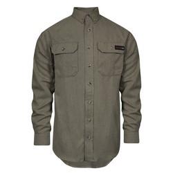 TECGEN SELECT FR Work Shirt (Tan - Extra Large Long), TECGENOPF Blend, Arc Rating 8 cal, HRC 2