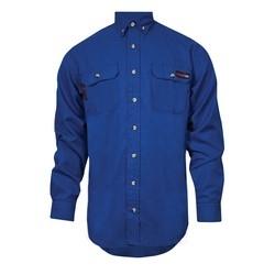 TECGEN SELECT FR Work Shirt (Royal Blue - 4X Regular), TECGENOPF Blend, Arc Rating 8 cal, HRC 2