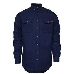 TECGEN SELECT FR Work Shirt (Navy - 5X Regular), TECGENOPF Blend, Arc Rating 8 cal, HRC 2