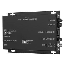"""10/100 Ethernet Transceiver, MM Laser, 1 Fiber, """"A"""" End (1310/1550 nm), Rack Mount"""