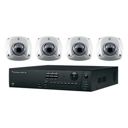 Network Video and Camera Kit, Includes 4-Channel NVR 10 Compact with Built-In 4-Port PoE Switch, 2 TB Storage, 3 Megapixel 2.8 MM Lens Low Profile Mini-Dome IR Wedge Camera