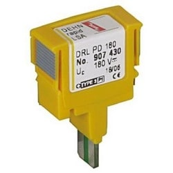 DEHNrapid LSA Protective Plug, Energy-Coordinated w/ DRL Plug-In SPD Block for ADSL, ISDN or A/B Lines, 180V, Type 1
