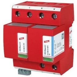 DEHNventil Modular Lightning Current/Surge Arestor for Single-Phase TT and TN-S Systems (1+1 Configuration), 230V, Type 1 and Type 2 SPD, w/ Floating Remote Signaling Contact