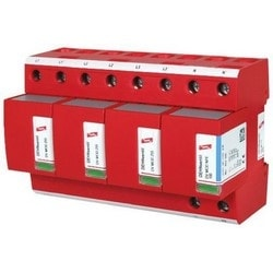 DEHNventil Modular Lightning Current/Surge Arestor for TT and TN-S Systems (3+1 Configuration), 230V/400V, Type 1 and Type 2 SPD