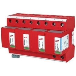 DEHNventil Modular Lightning Current/Surge Arestor for TT and TN-S Systems (3+1 Configuration), 230V/400V, Type 1 and Type 2 SPD, w/ Floating Remote Signaling Contact