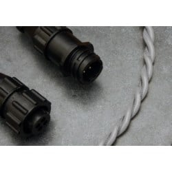 SEAHAWK LSZH Conductive fluid sensing cable supplied in 10ft (3.05mtr) length detects the presence of conductive fluid leaks with mating connectors for leak sensing equipment supplied in Grey