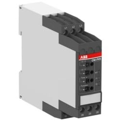 Phase Monitoring Relay, 3-Phase, 500 Volt AC at 50/60 Hertz, 4 Ampere at 230 Volt, 24 Volt Switching, SPDT, Screw Terminal, 22.5 MM Width x 103.7 MM Depth x 85.6 MM Height