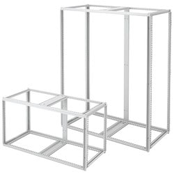 Modular Frame, Two Bay, Bulletin P20 (PROLINE1/2 Modular Enclosures - PROLINE Frames), Size/Dims: 1400x1200x500mm, Material: Steel, Finish: Lt Gray