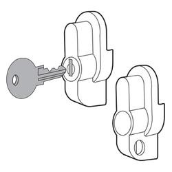 Padlock Kit, Size/Dims: fits ULTRX, Material/Finish: Fiberglass