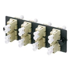 FAP with 8 LC Duplex OM1 Multimode Adapters (Electric Ivory) Phosphor Bronze Split Sleeves