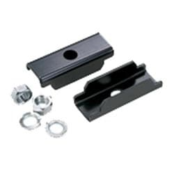 Bracket, Mount Threaded Rod to Std. EIA/TIA Racks, Black