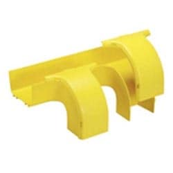 """Raccord, double tuyau de descente avec gorge couvertures, 6 """"x 4"""" FiberRunner 150 x 100 mm, jaune"""