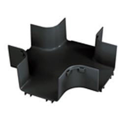 "Ajustage, 4-chemin Croix, 6 ""x 4"" (150 x 100 mm), FiberRunner, noir"